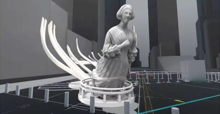 HoloLens体验艺术纽约时代广场AR艺术展览