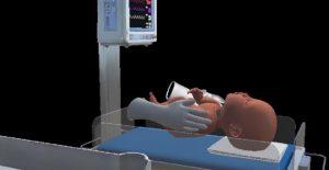 MR模拟固尔苏治疗新生儿的给药操作