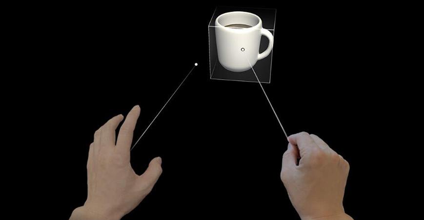 HoloLens使用手指向和提交
